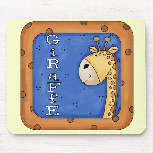 Block Giraffe T-shirts and Gifts Mousepads