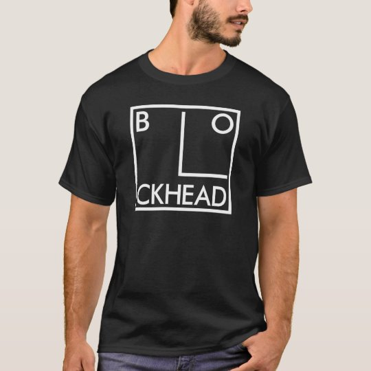 Block Head Indie Band Rock music T-shirt Black