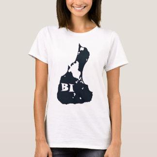 Block Island BI Island Shape T-Shirt