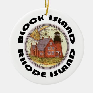 Block Island. Christmas Ornament