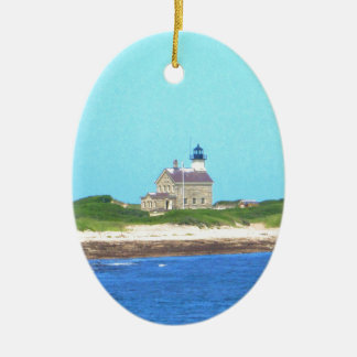 Block Island North Light Christmas Ornament