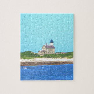 Block Island North Light Jigsaw Puzzle