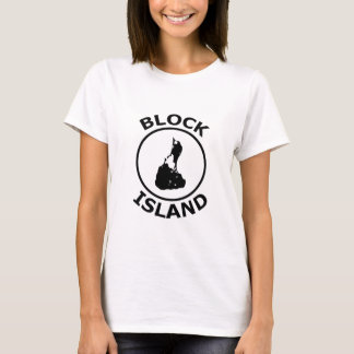 Block Island Shape Inside Circle T-Shirt