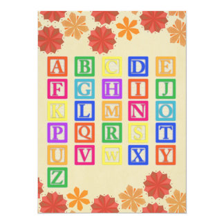Block Letters Card
