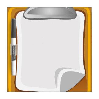 Block notes clip dry erase board