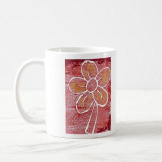 Block Print Flower Mug