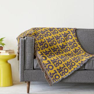 "Block Script ""SKOL"" - Throw Blanket (Yellow)"