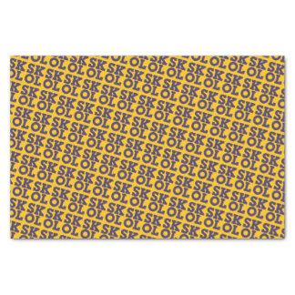 "Block Script ""SKOL"" - Tissue Paper (Yellow)"