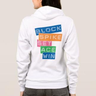 Block, Spike, Ace, Win Hoodie