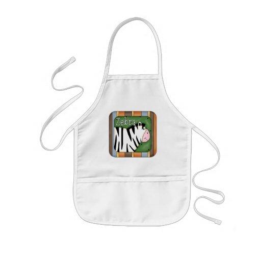 Block Zebra T-shirts and Gifts Apron
