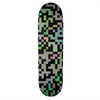 Blöcke schwarz bunt blocks black color 21.6 cm skateboard deck