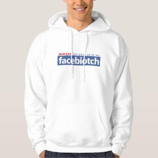 BLOCKED facebiotch wht hoodie men/wmn