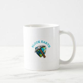 Blocks Earth (White Background) Mug
