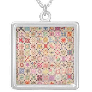 Blocks Quilt Necklace - Square