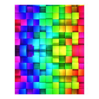 Blocks Rainbow 3d Graphics Background 21.5 Cm X 28 Cm Flyer