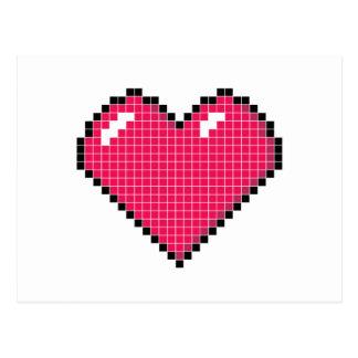 Blocky Heart Postcard