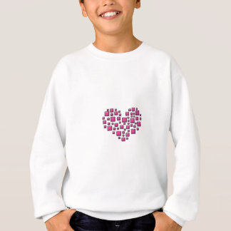 Blocky Heart Sweatshirt