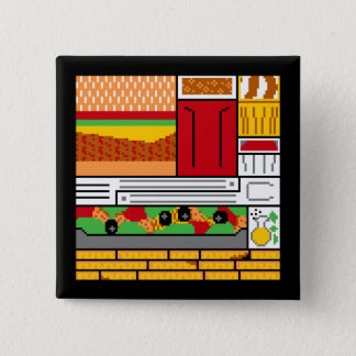 Blocky Juicy Burger Joint 15 Cm Square Badge