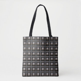 Blocky Metal Pattern Fashion Bag- Steampunk Style Tote Bag
