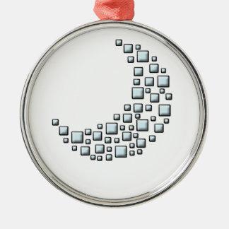 Blocky Moon Christmas Ornament