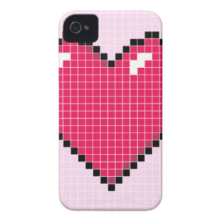 Blocky Pink Heart iPhone 4 Case-Mate Case