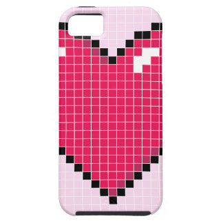 Blocky Pink Heart iPhone 5 Covers