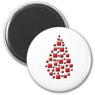 Blocky Red Drop Magnet