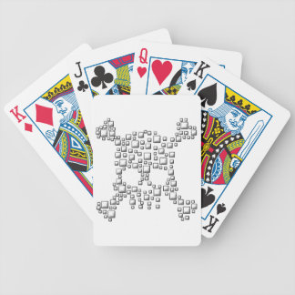 Blocky Skull Bicycle Playing Cards