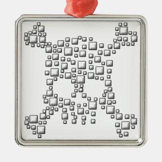 Blocky Skull Christmas Ornament
