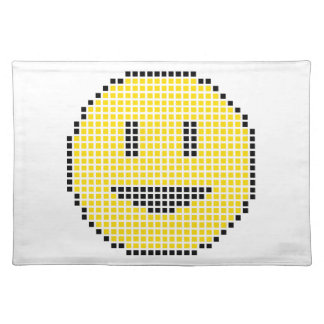 Blocky Smiley Face Place Mats