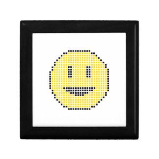 Blocky Smiley Face Small Square Gift Box