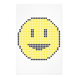 Blocky Smiley Face Stationery