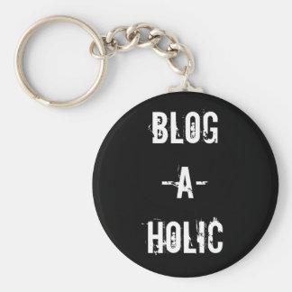Blog-A-Holic Keychain Black