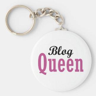 Blog Queen Basic Round Button Key Ring