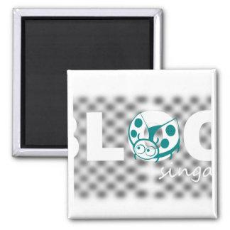 Blog signature design square magnet