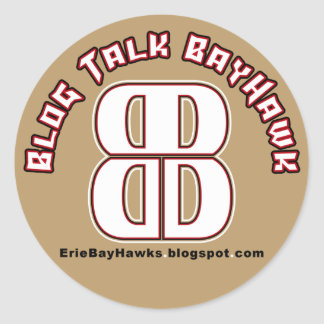 Blog Talk BayHawk Gold Stickers