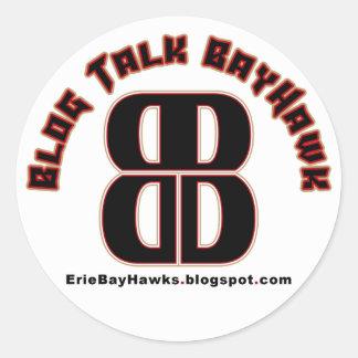 Blog Talk BayHawk White Stickers