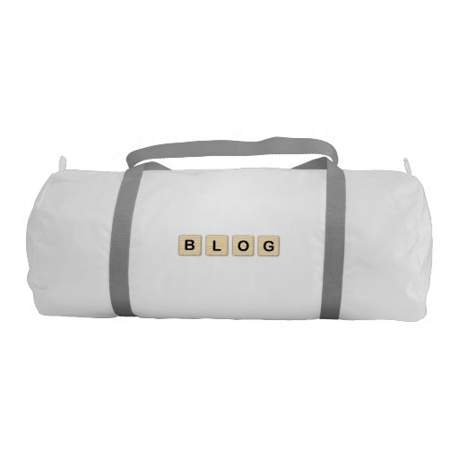 Blog Wooden Letters Gym Bag