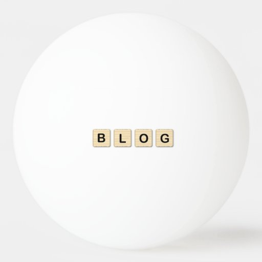 Blog Wooden Letters Ping Pong Ball