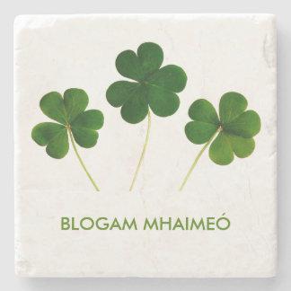 Blogam Mhaimeó: Irish Grandma's Cuppa Shamrock Stone Beverage Coaster
