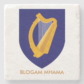 Blogam Mhama: Irish Mam's Cuppa Cláirseach Stone Beverage Coaster