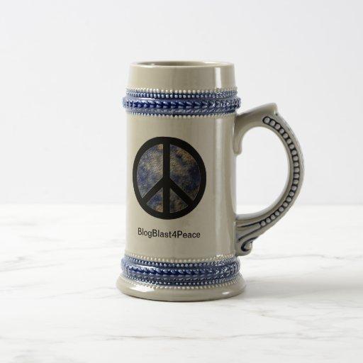 BlogBlast For Peace Stein Mug