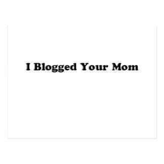 Blogged Your Mom Postcard