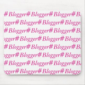 #Blogger Mousemat - Word Wrapped