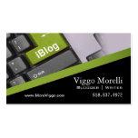 Blogger Writer Editor Internet WordPress Blog Pack Of Standard Business Cards