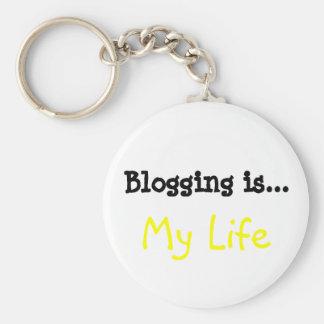 Blogging is... My Life Keychain