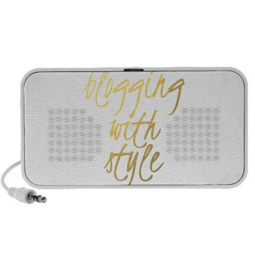 Blogging with Style - Gold Script Travelling Speakers