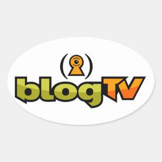 blogTV Oval Sticker