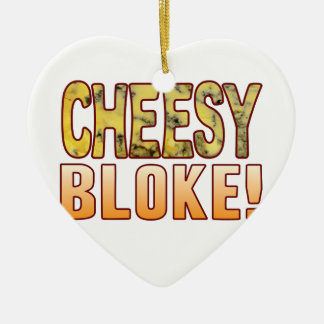 Bloke Blue Cheese Ceramic Heart Decoration
