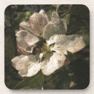 Blommor och bin kopp underlägg
